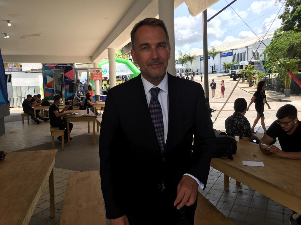 Para Martin Frick, países devem se unir para chegar a uma solução em conjunto para o problema do aquecimento global — Foto: Maiana Belo/G1 Bahia