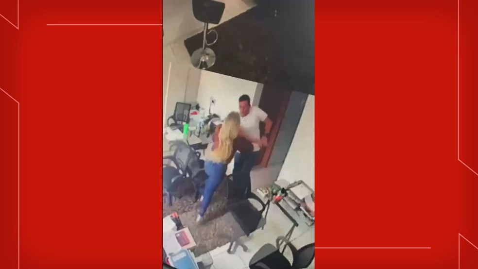 Empresária foi agredida por PM do DF no próprio escritório — Foto: Arquivo pessoal