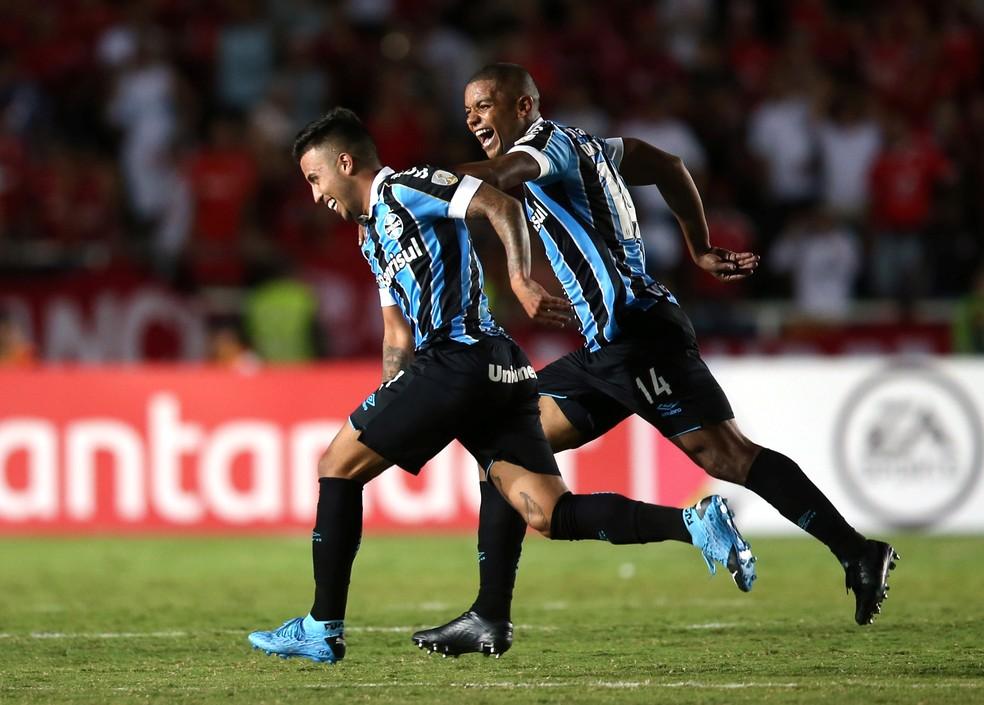 Matheus Henrique marcou um dos gols sobre o América de Cali — Foto: REUTERS/Luisa Gonzalez