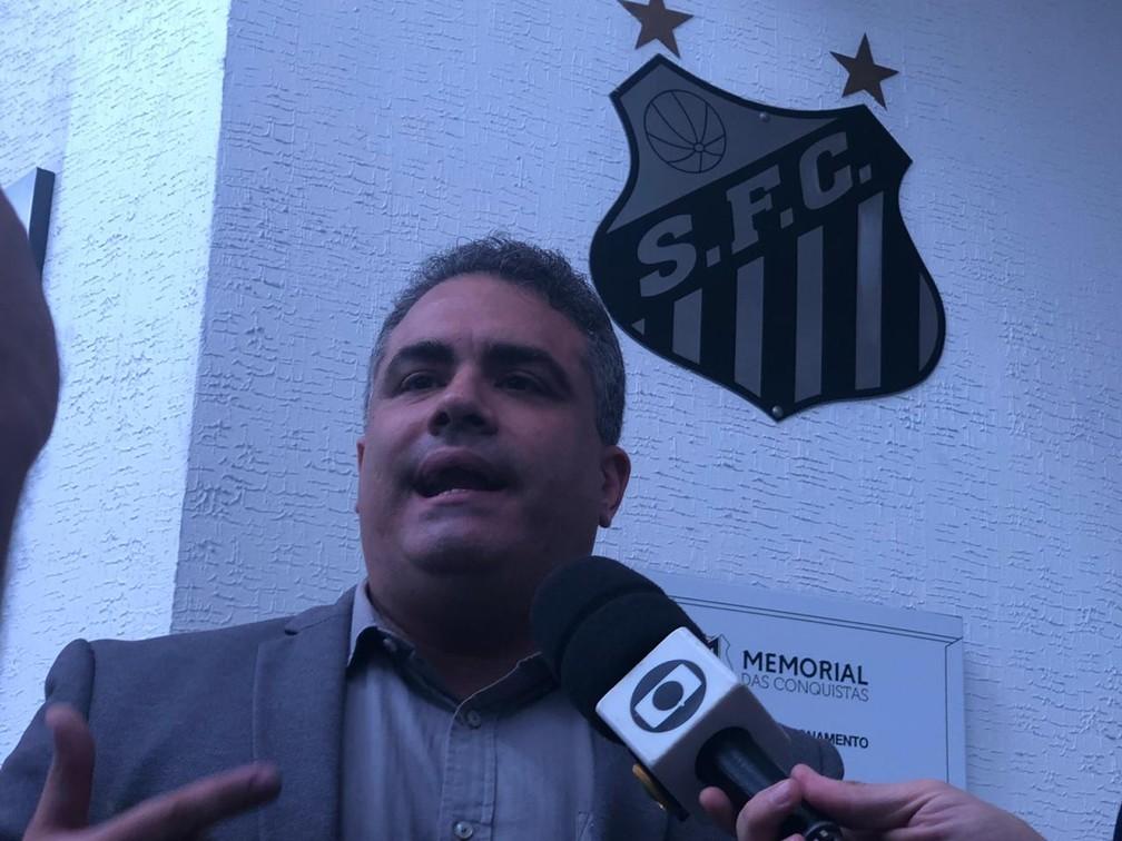 Orlando Rollo, vice-presidente do Santos — Foto: Gabriel dos Santos