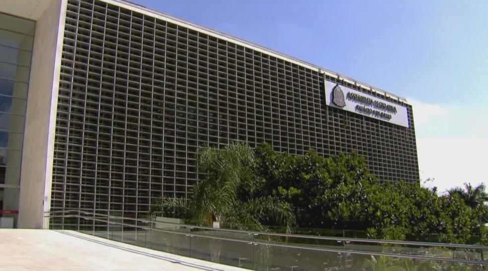 Fachada Alesp Assembléia Legislativa do Estado de São paulo — Foto: Reprodução/ Rede Globo