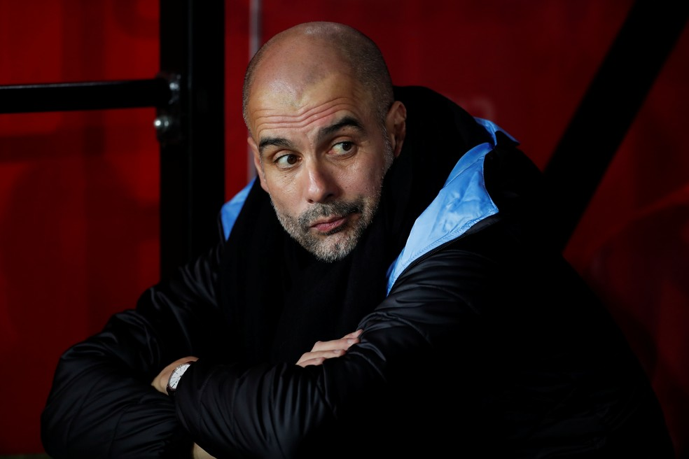 Pep Guardiola é técnico do Manchester City — Foto: Reuters
