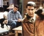Ross (David Schwimmer) e Marcel em 'Friends' | Reprodução da internet