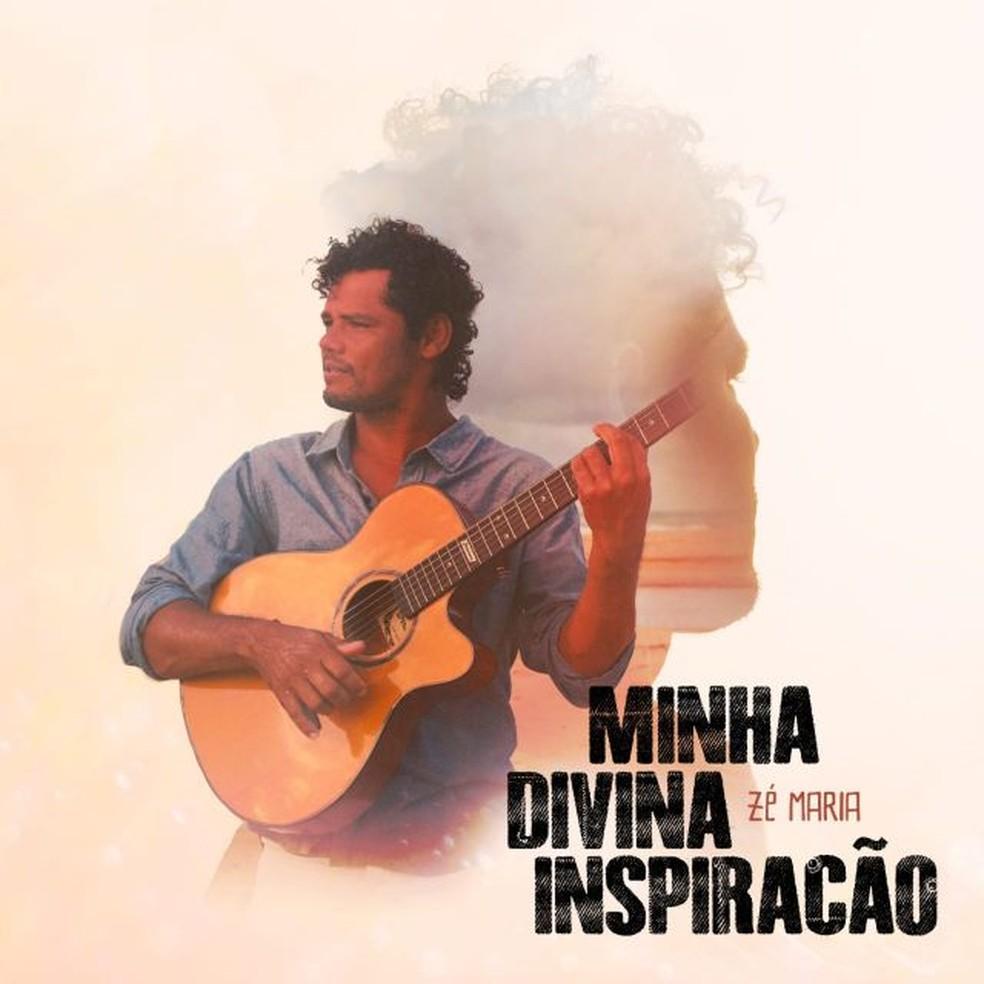 Capa do EP 'Minha divina inspiração', de Zé Maria — Foto: Divulgação