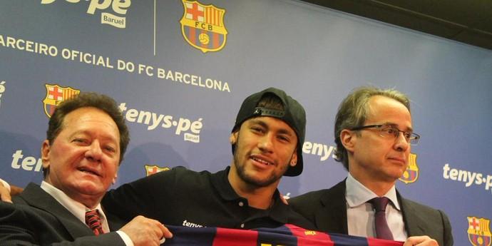 Neymar patrocínio Barcelona (Foto: Reprodução/Youtube)