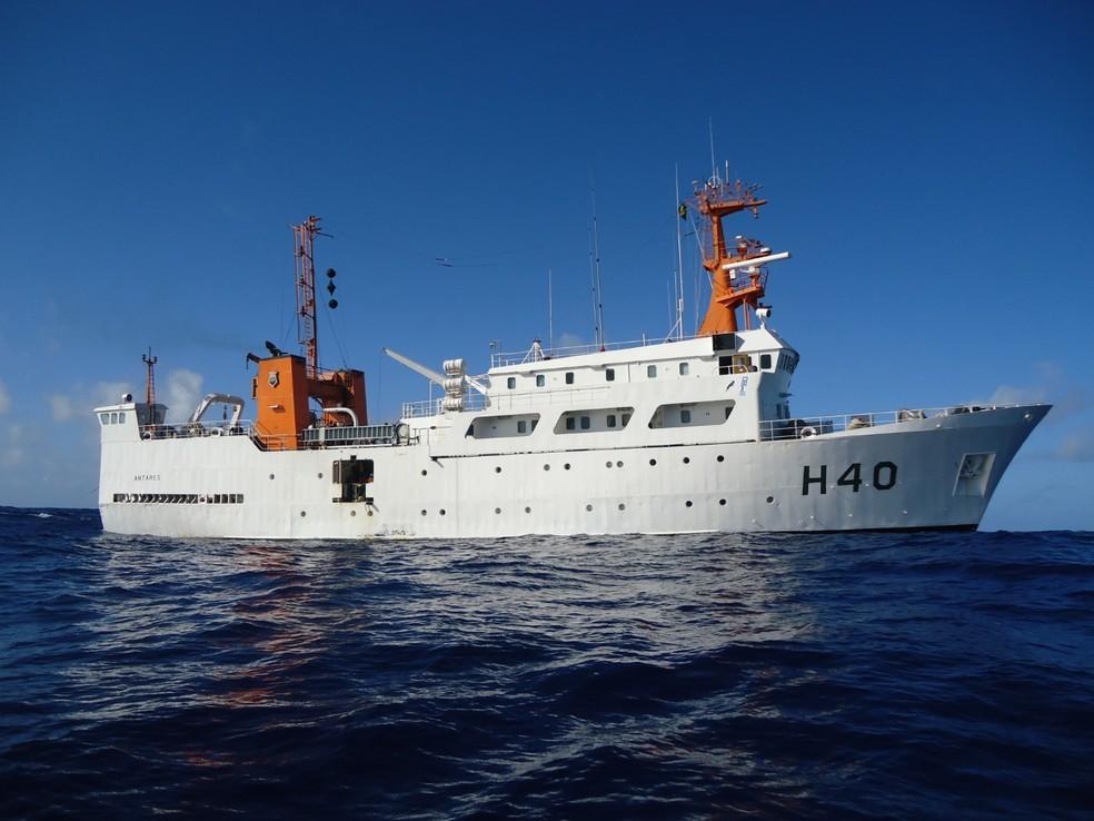 Navio Oceanográfico Antares, da Marinha do Brasil — Foto: Divulgação/Marinha do Brasil