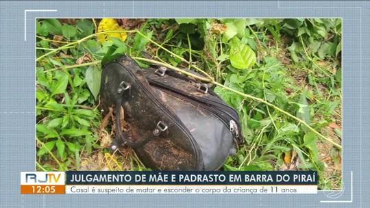 Casal suspeito de matar e esconder corpo de menina de 11 anos em Barra do Piraí vai a julgamento