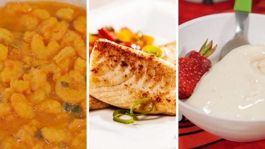 Top 3 receitas típicas do litoral do Paraná: bobó de camarão, peixe tilápia ao molho e sorvete de mandioca
