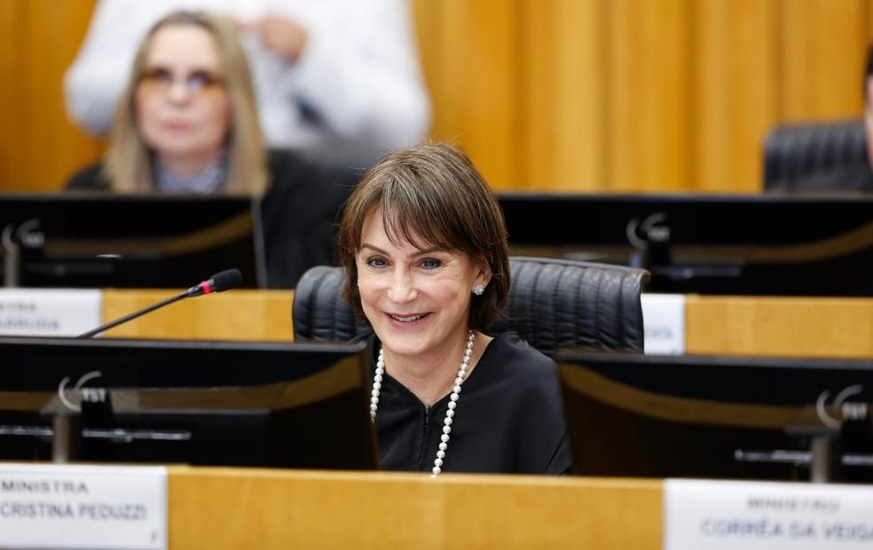 Ministra Cristina Peduzzi, nova presidente do Tribunal Superior do Trabalho — Foto: Giovanna Bembom/TST