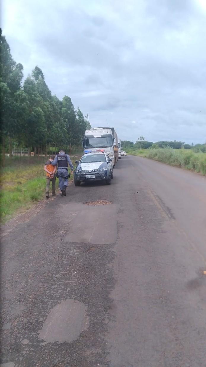 Colega foi preso suspeito de matar jovem em fazenda em Mato Grosso — Foto: Polícia Militar de Mato Grosso/Divulgação