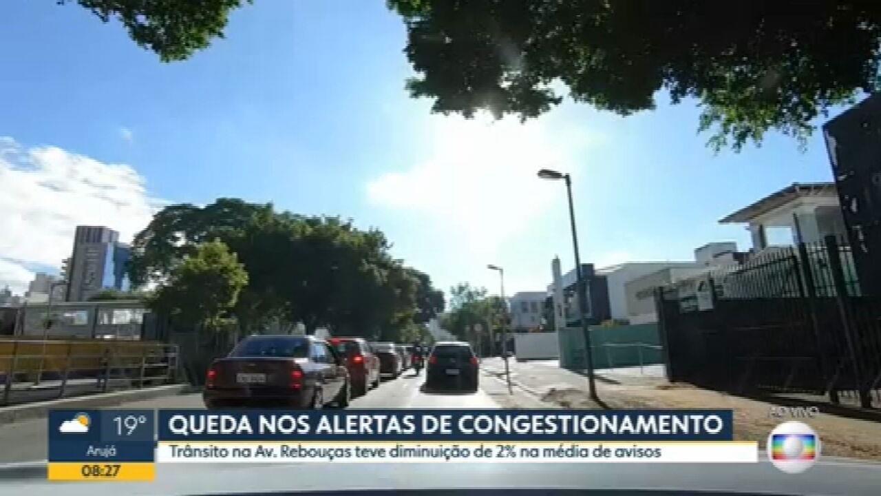 Média de alertas de congestionamento registra queda de 17% durante fase emergencial na cidade de SP