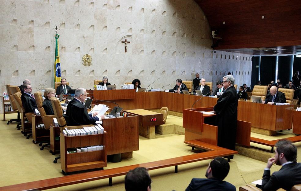 STF julga pedido de suspeição de Janot (Foto: Nelson Jr./SCO/ST)