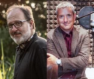 O diretor José Eduardo Belmonte e o escritor peruano Santiago Roncagliolo   Divulgação