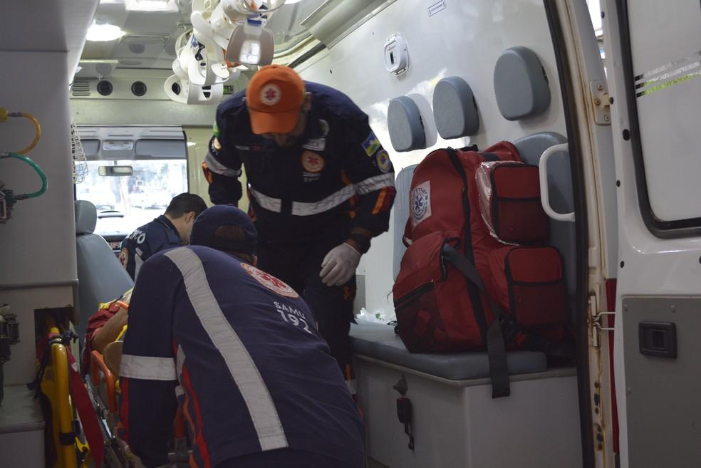 Maior número de atendimento do Samu refere-se a acidentes com motocicletas, diz médico (Foto: Diêgo Holanda/G1)