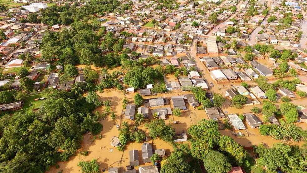Acumulado de chuvas em 14 dias ultrapassa 60% do esperado para fevereiro em Rio Branco (Foto: Divulgação/Ascom)