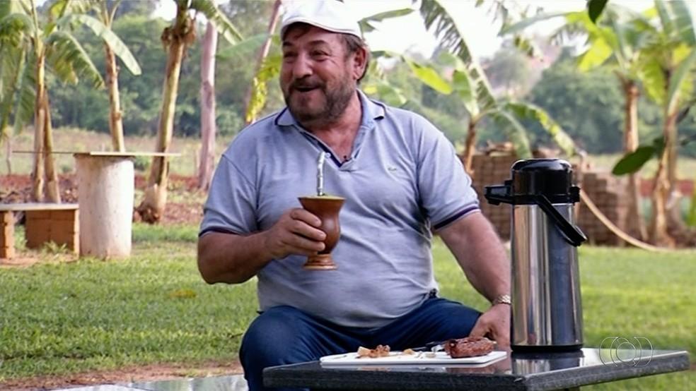 Domingos Veronese diz que Araguaína foi o lugar onde encontrou trabalho e bem estar  (Foto: TV Anhanguera/Reprodução)