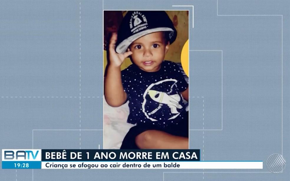 João Gabriel de Souza Conceição tinha 1 ano (Foto: Reprodução/TV Bahia)