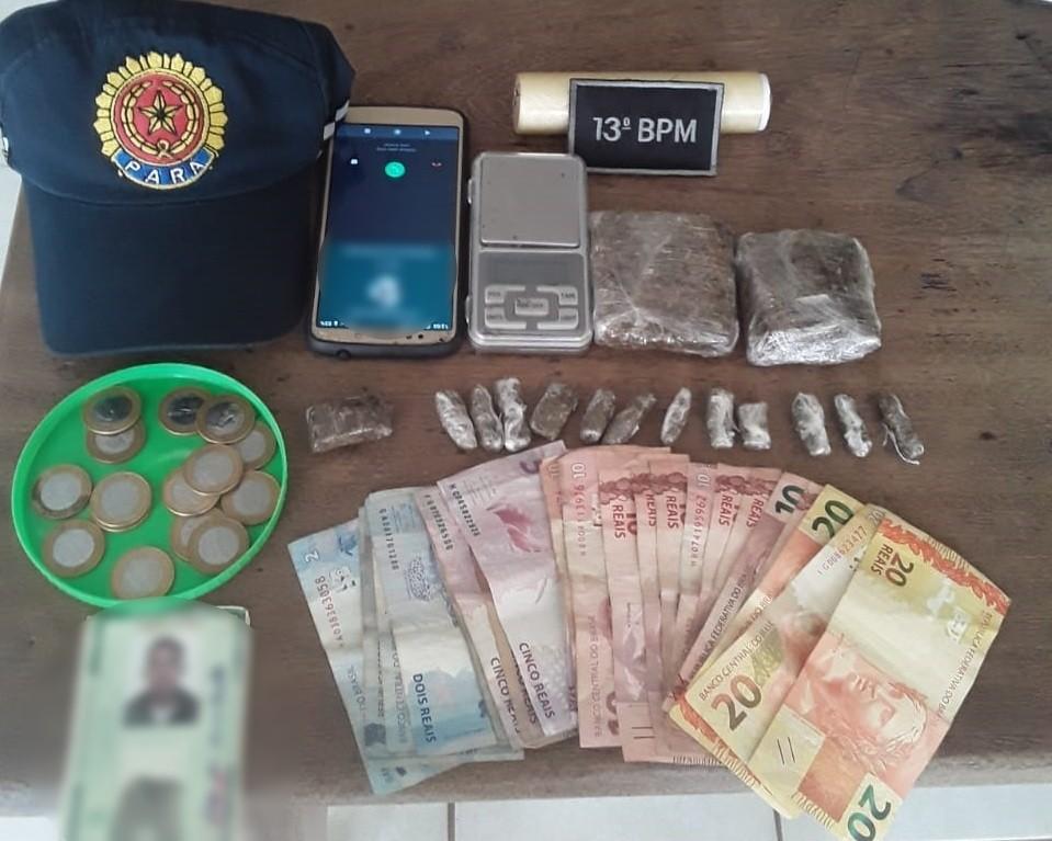 Suspeito é preso por traficar drogas em Tucuruí, sudeste do Pará