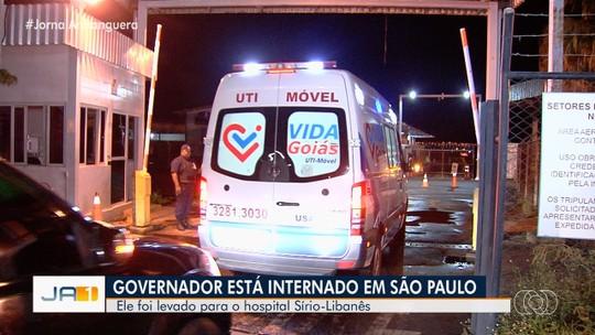 Antes de ser transferido para SP, Ronaldo Caiado foi atendido em hospital de Goiânia