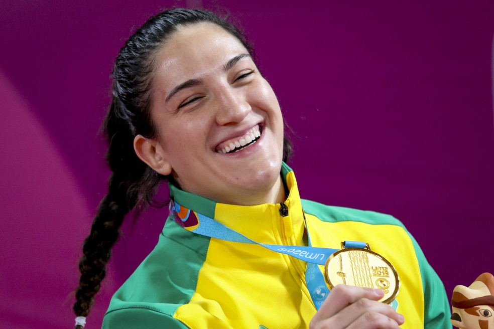 Mayra Aguiar, ouro no judô no Pan de Lima — Foto: Wander Roberto/COB