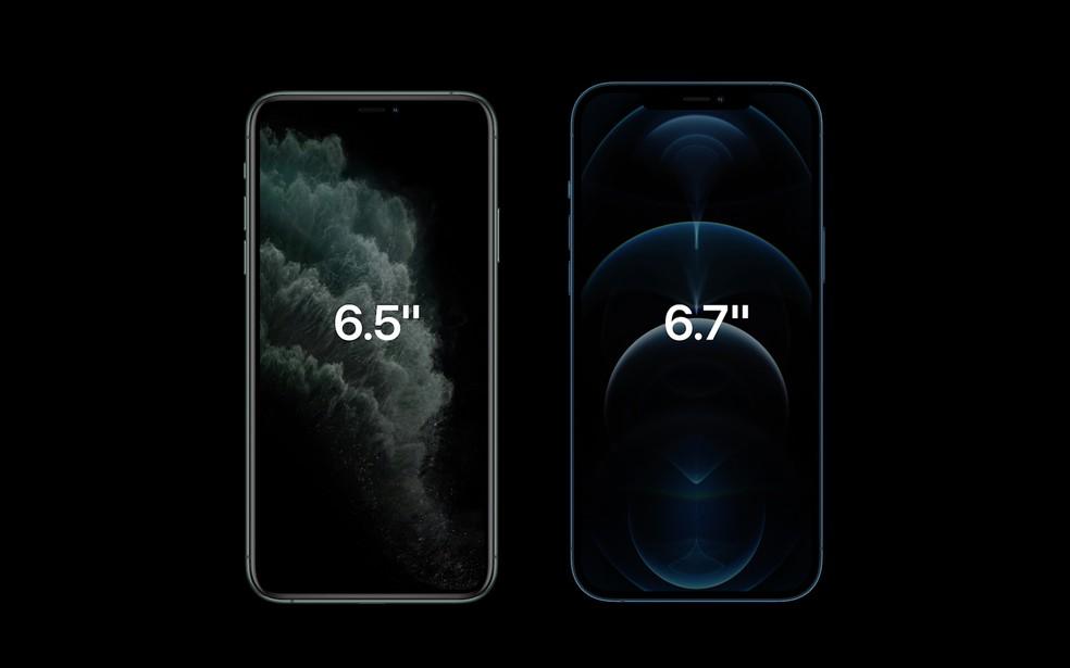 iPhone 12 Pro Max traz tela de 6,7 polegadas — Foto: Reprodução/Apple