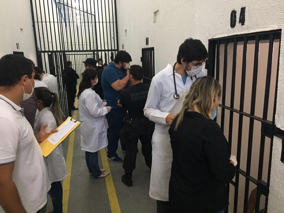 Presos também receberão atendimentos na área da saúde — Foto: Divulgação/Sejuc