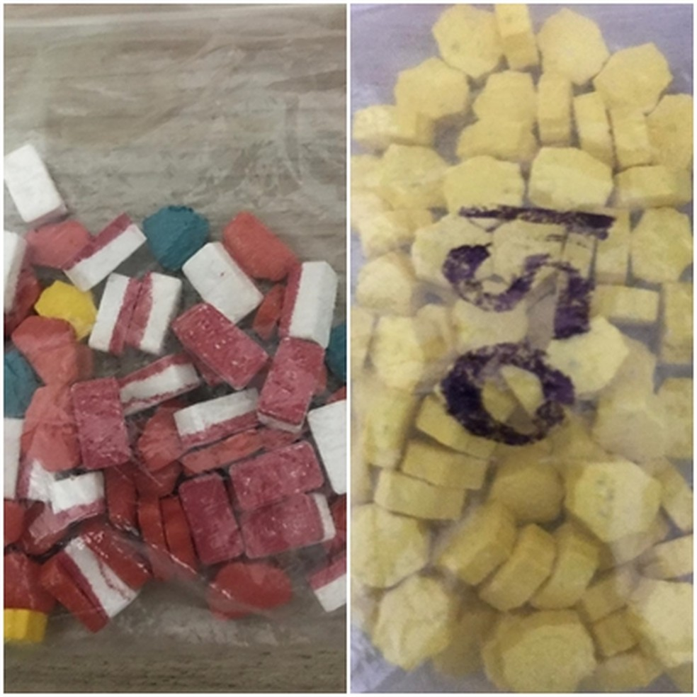 Comprimidos de ecstasy foram apreendidos em Rio Preto  — Foto: Arquivo Pessoal