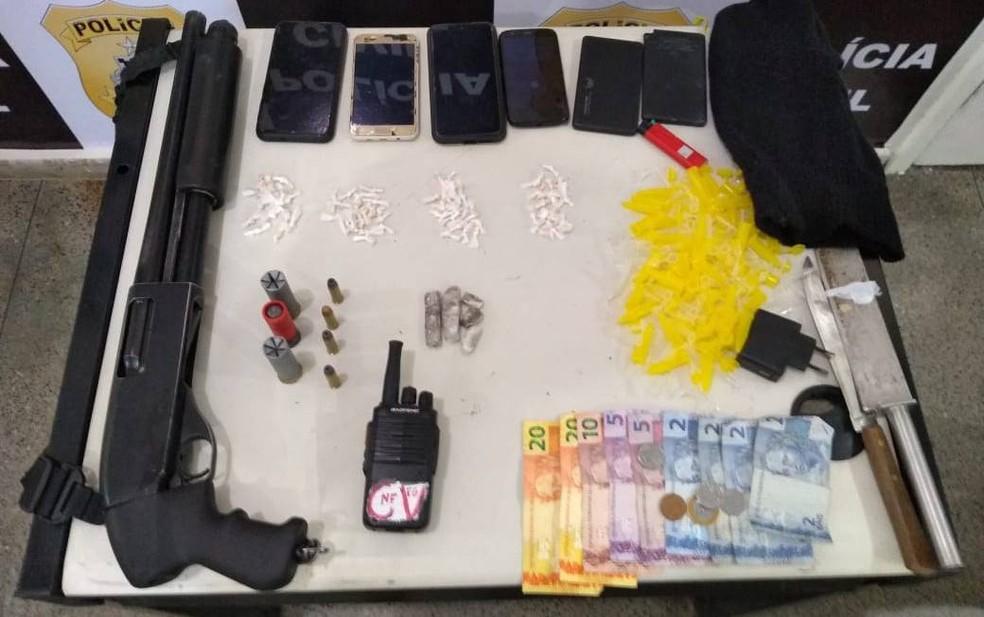 Quatro suspeitos de tráfico de drogas são presos no município de Itabuna, sul da Bahia — Foto: Foto: SSP/Divulgação