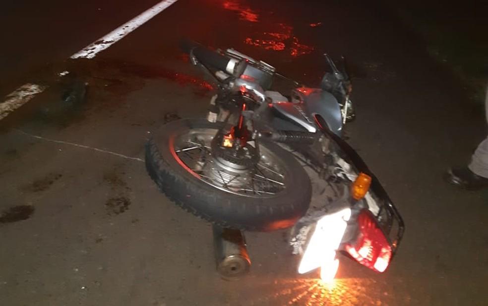 Motociclista teve ferimentos leves após acidente em rodovia de Marília — Foto: Arquivo Pessoal