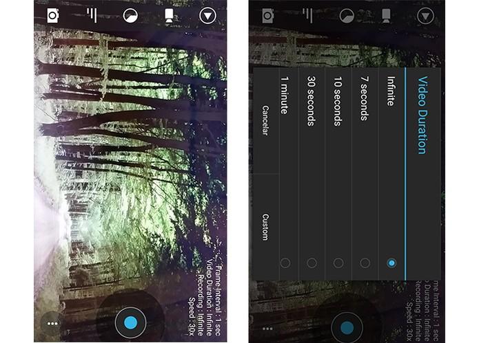 Framelapse permite ajustar o foco durante a gravação do vídeo (Foto: Reprodução/Barbara Mannara)