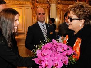 Presidente Dilma Rousseff é recepcionado na chegado a Nova York (Foto: Roberto Stuckert Filho/PR)