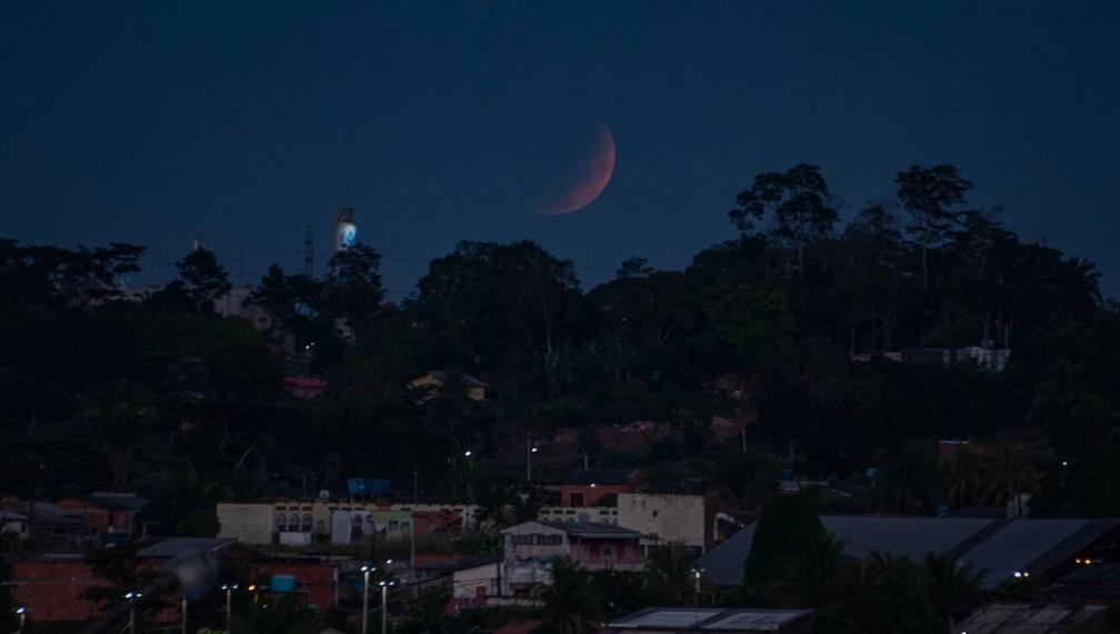 Superlua registrada em Rio Branco — Foto: Assis Lima/Arquivo pessoal