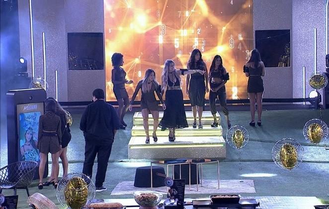 Cena da festa de quarta-feira no 'BBB' 20 (Foto: Reprodução)