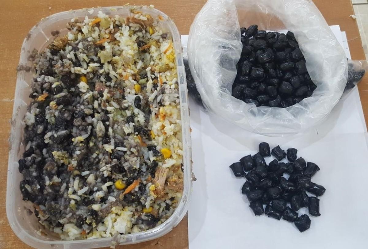 Agentes do CDP de Suzano encontram drogas em marmita de feijão