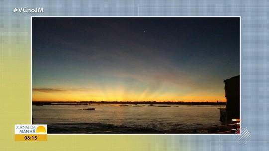 Confira a previsão do tempo desta sexta-feira (26); veja também as fotos do amanhecer