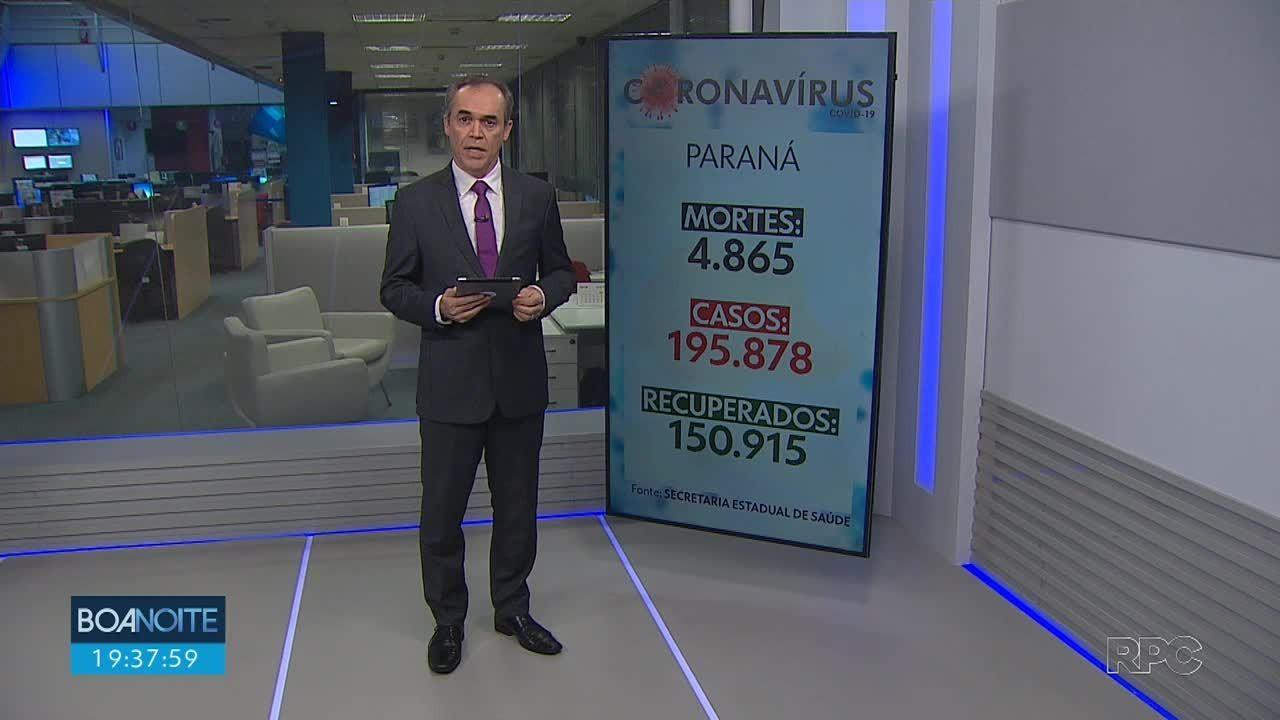 Paraná registra mais 33 mortes por coronavírus