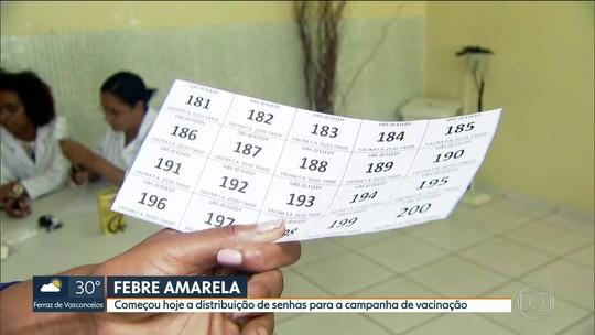 Prefeitura de SP começa a distribuir senhas para vacinação contra a febre amarela