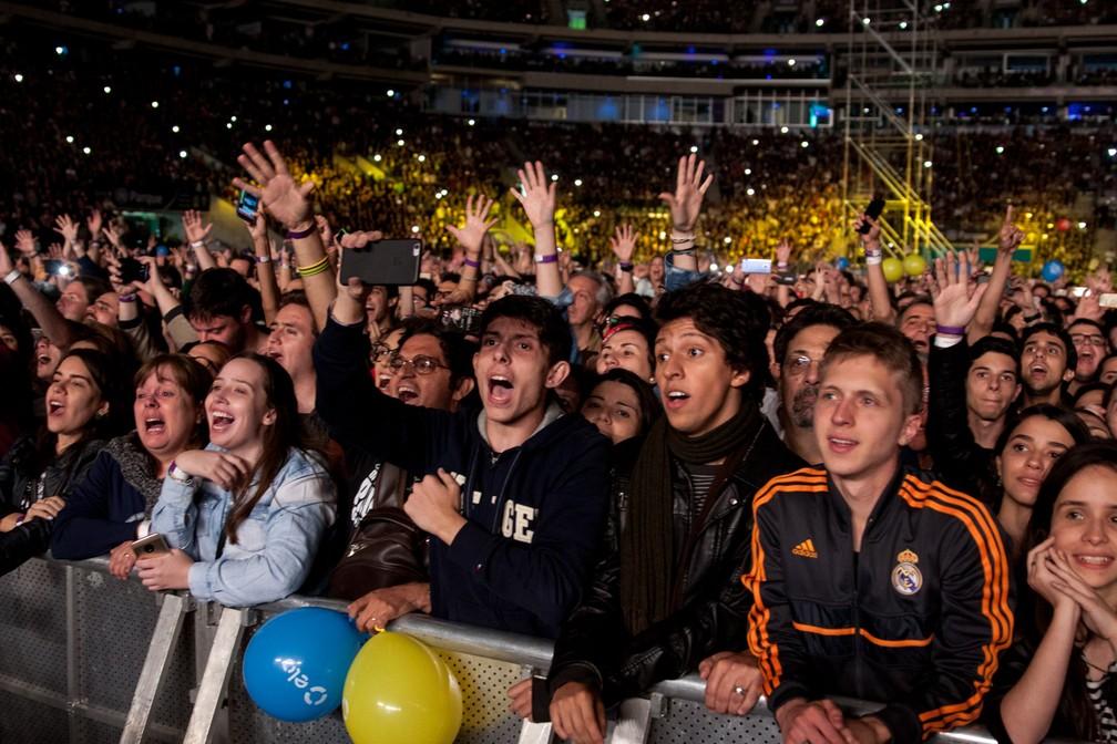 Paul McCartney em São Paulo (Foto: Marcelo Brandt/G1)