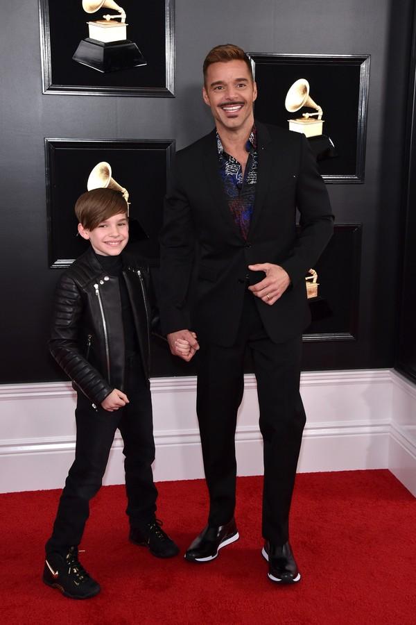 Ricky Martin e seu filho (Foto: Getty Images)