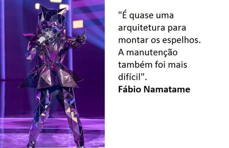 Para os dois, a Gata Espelhada foi a fantasia mais difícil de ser feita Globo