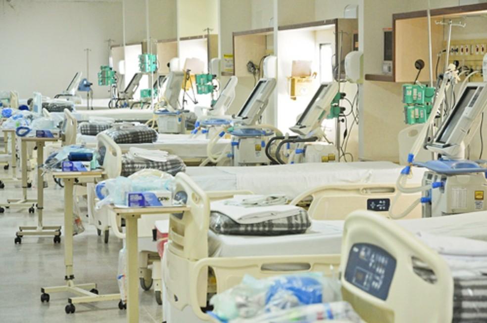 Reserva de leitos para infectados pelo novo coronavírus no Hospital de Santa Maria, no DF — Foto: Breno Esaki/Agência Saúde