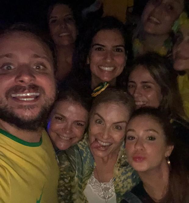 Leo Fuchs, Marcia Marbá, Angélica e Maria Ruy Barbosa (Foto: Reprodução Instagram)