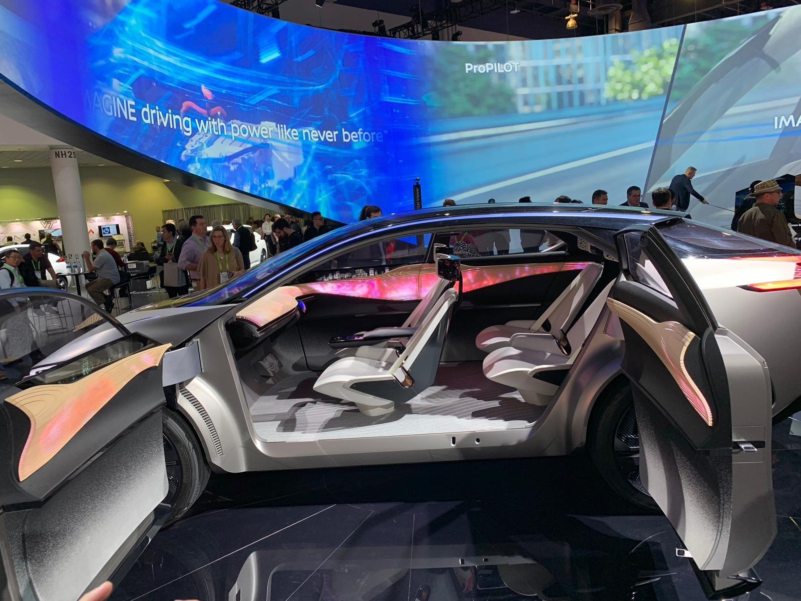 Carro autônomo da Nissan, exposto na CES 2019 (Foto: Natasha De Caiado Castro )