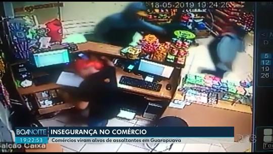 Assaltos frequentes deixam comerciantes de Guarapuava inseguros