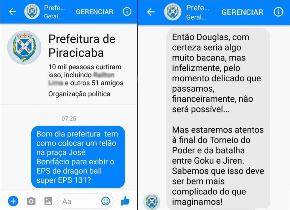 Em primeira resposta, prefeitura diz que não pode, mas vai ficar atenta a episódio da saga (Foto: Reprodução/Facebook/Douglas Pollo)
