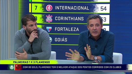 """""""O Fla tem prazer de jogar. Eles se divertem em campo"""", diz Pedrinho sobre a atuação contra o Palmeiras"""