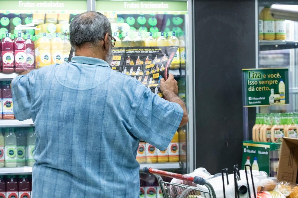 Vendas em supermercados puxaram resultado positivo de 2018 — Foto: Celso Tavares/G1