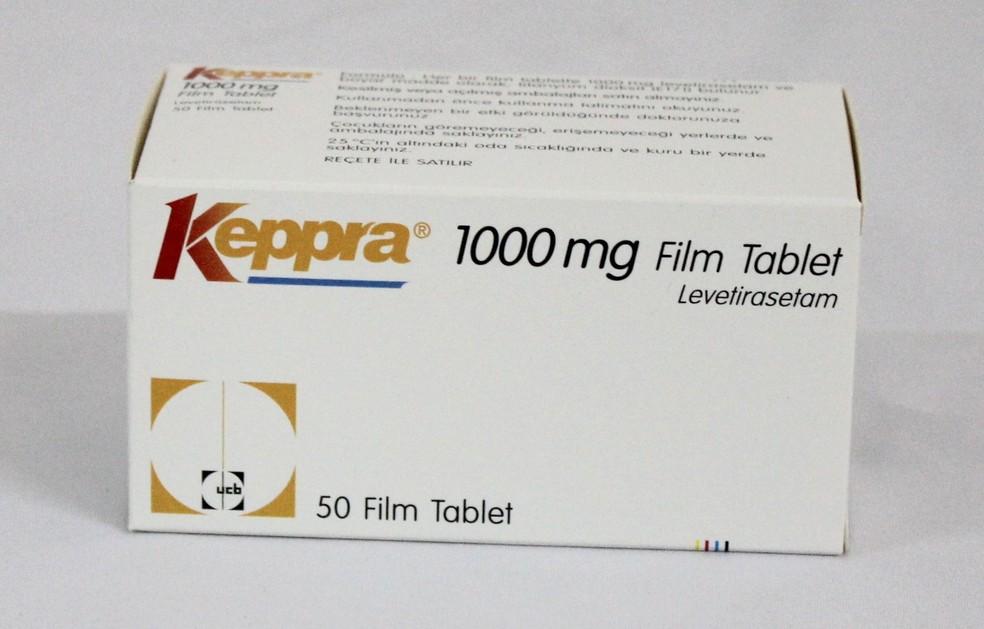 O medicamento Keppra (levetiracetam) usado para o tratamento de convulsões (Foto: Divulgação)