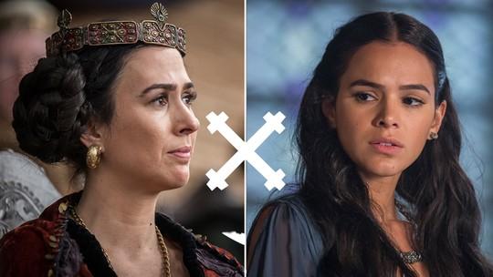 Quem leva a melhor? Reveja os embates entre Lucrécia e Catarina e descubra quem é a vencedora