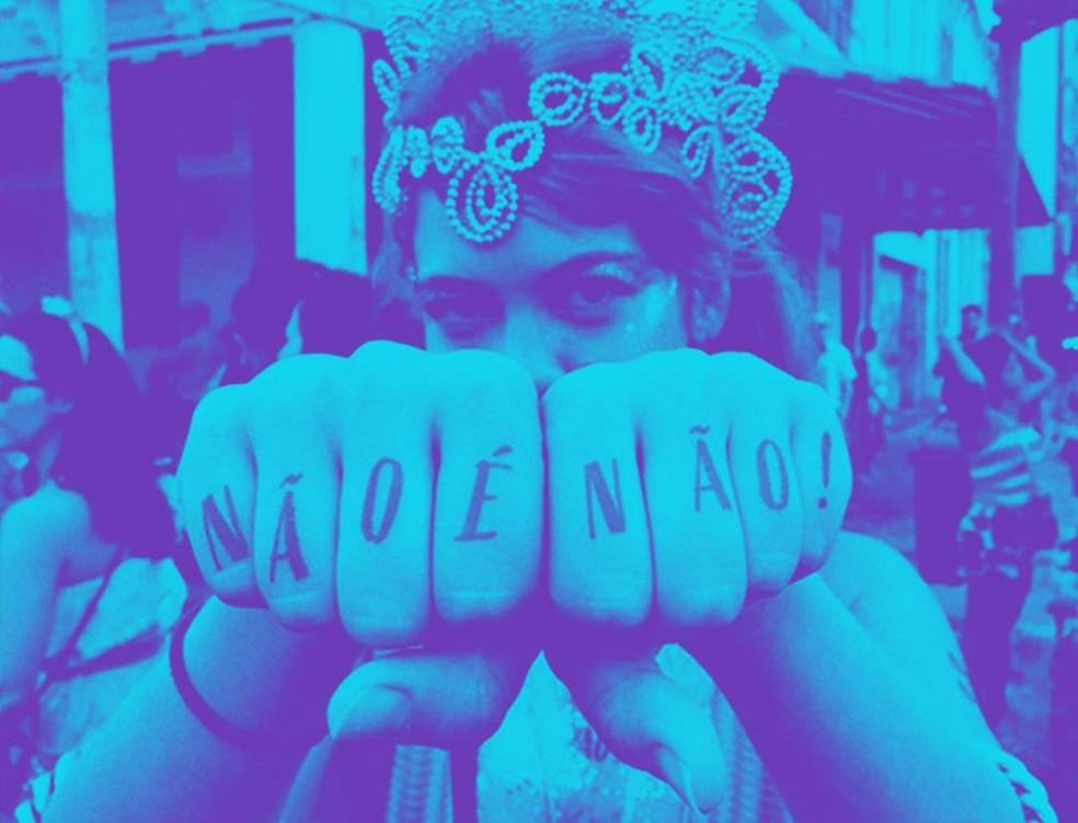 Campanha 'Não é Não' distribui tatuagens temporárias em, pelo menos, oito estados brasileiros no carnaval de 2019 â?? Foto: Não é Não/Divulgação